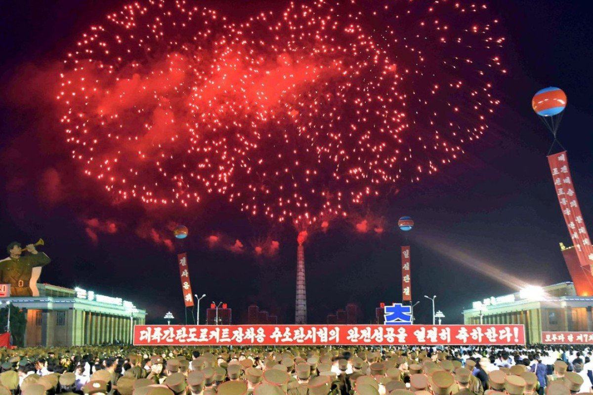 North Korea celebrates nuclear test with fireworks and