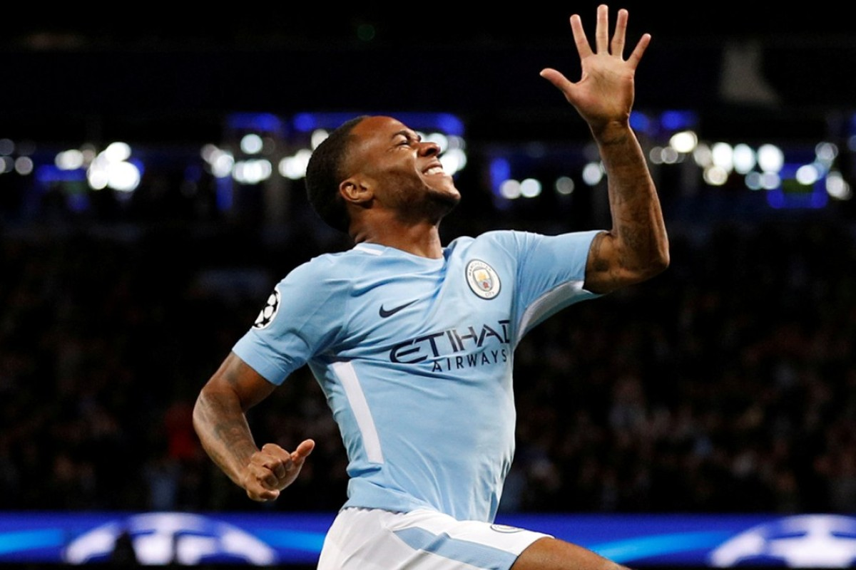 Raheem Sterling Celebrates After Opening The Scoring. Photo: Reuters