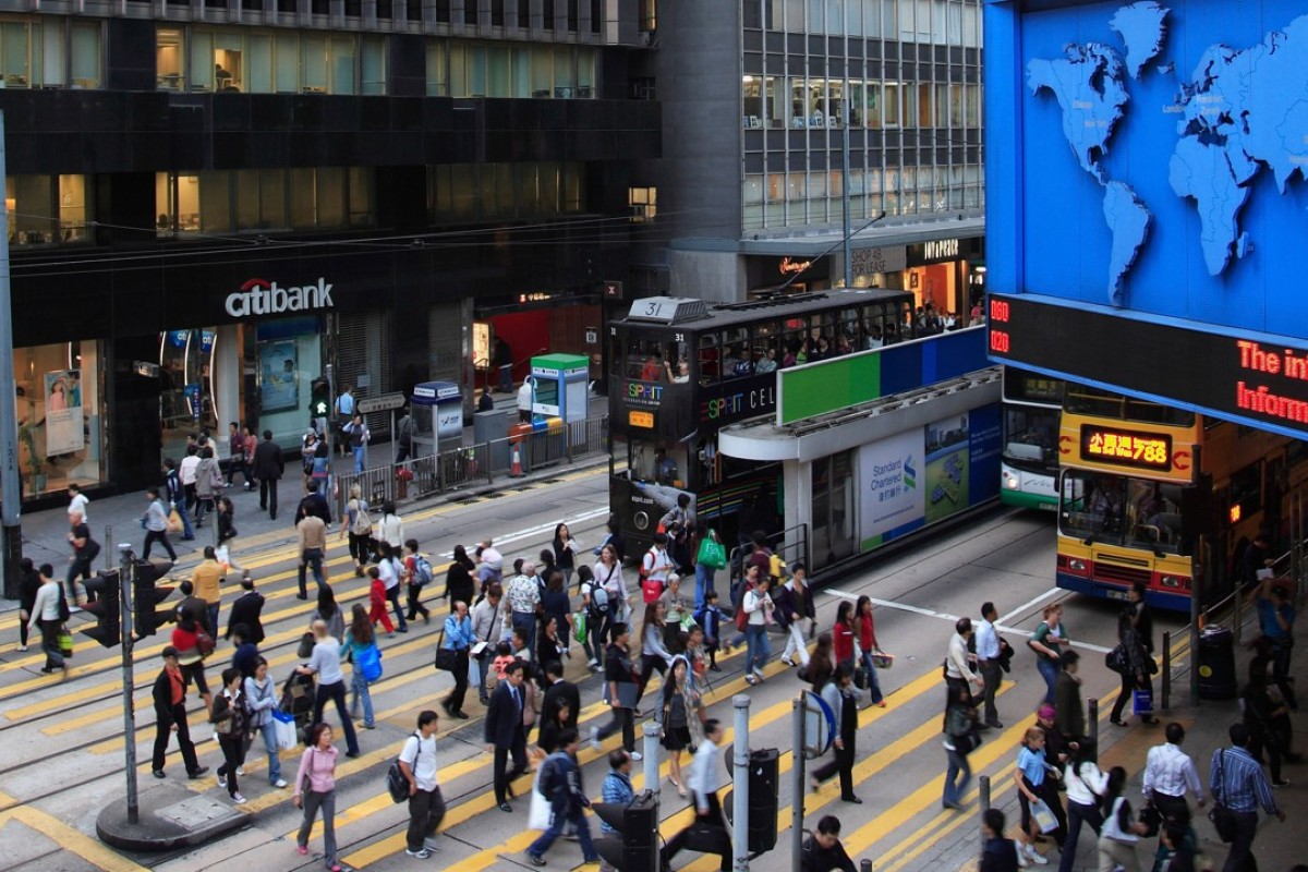 21ab7a5cee057 The banking sector pushed Hong Kong stocks higher on Friday. Photo  Alamy