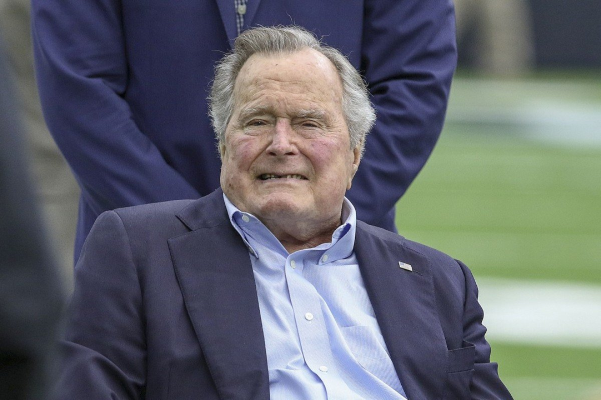 George H W  Bush accused of groping Michigan woman while he was