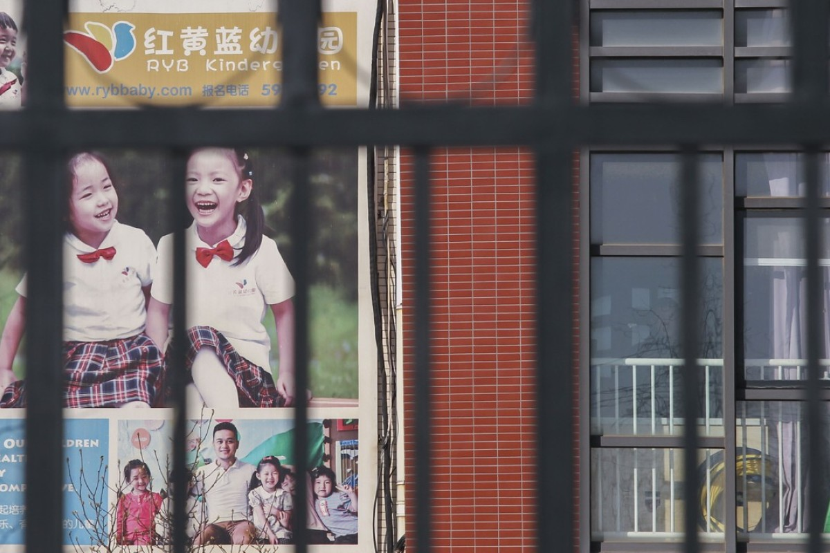 RYB Education New World has sacked the principal of the Chaoyang district school at the centre of child abuse allegations. Photo: Simon Song