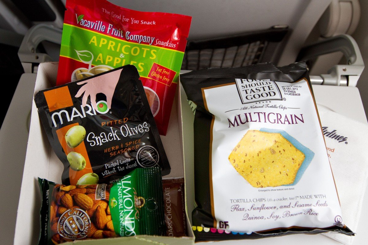 The best North American airlines for healthy food and snacks