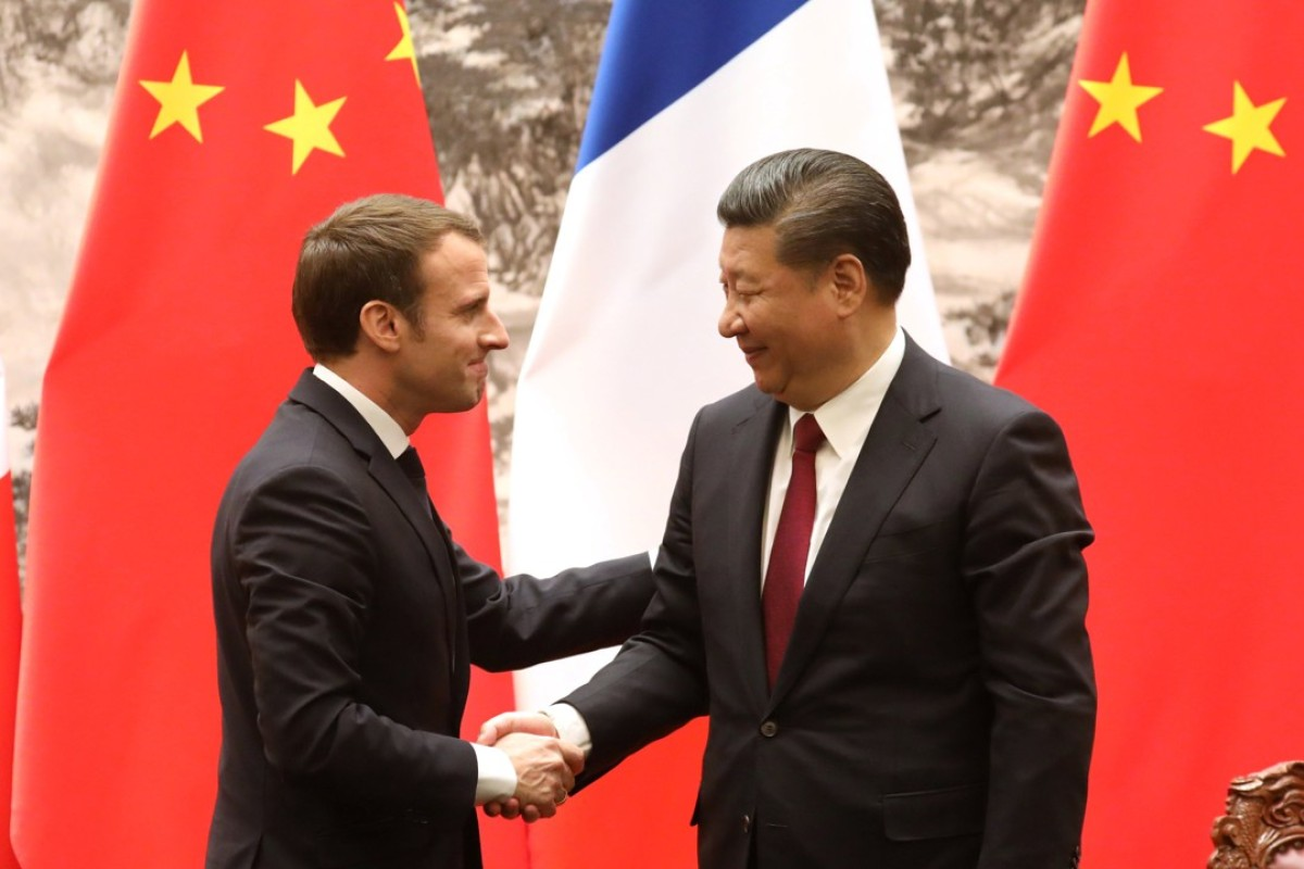 """Slikovni rezultat za Macron in china"""""""