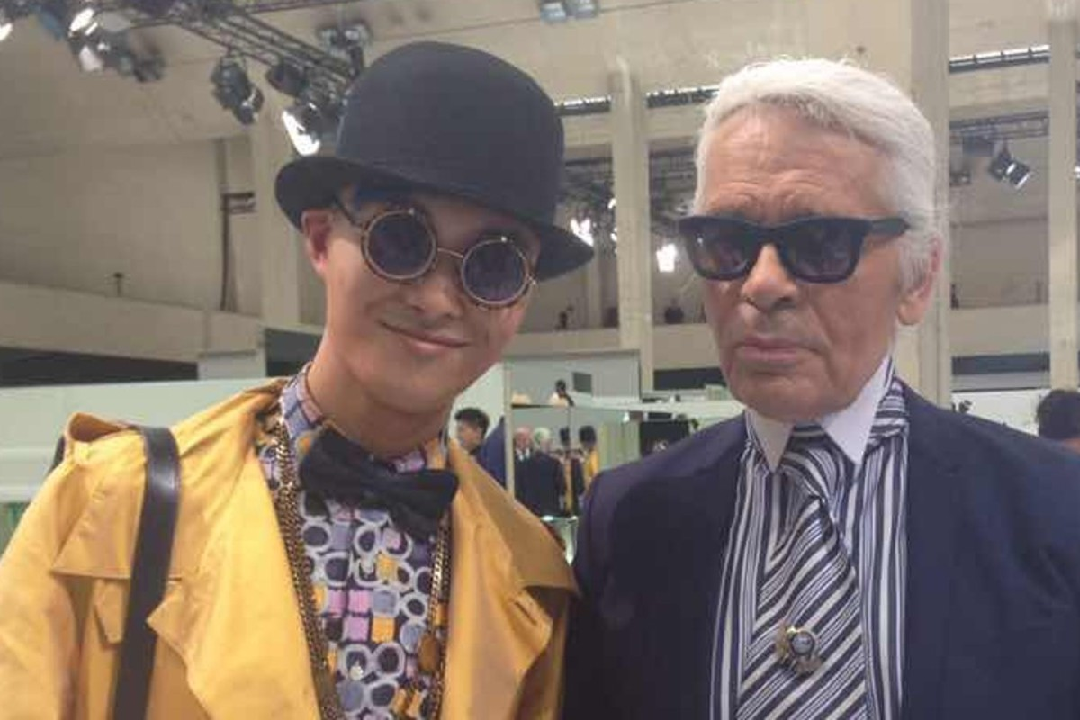 f303f827b3bd Chinese fashion influencer Peter Xu with German style legend Karl Lagerfeld  in Paris.