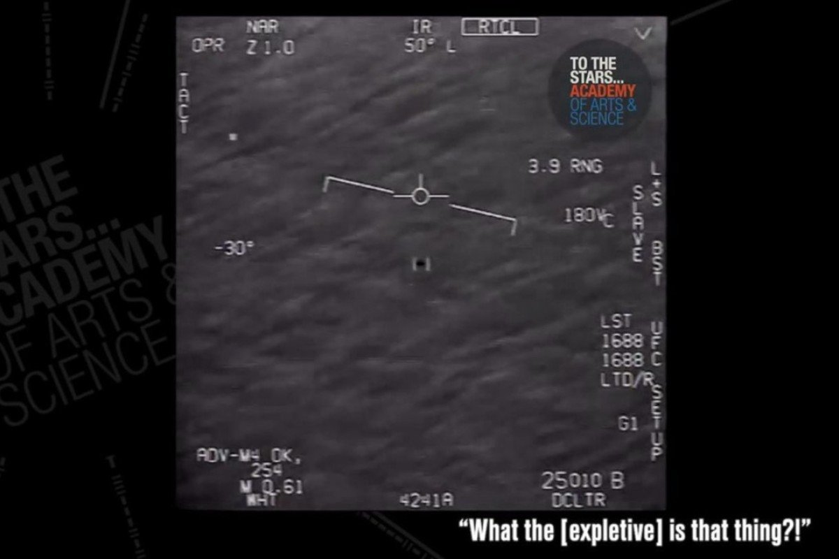 What is that thing?' Newly released footage shot by US Navy