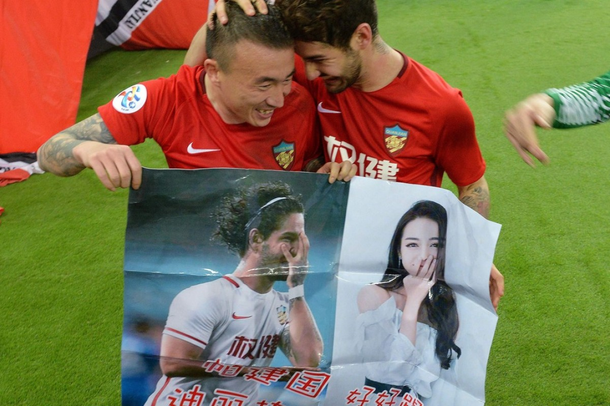 Poster boy and girl: Brazil's Pato woos 'most beautiful' Chinese