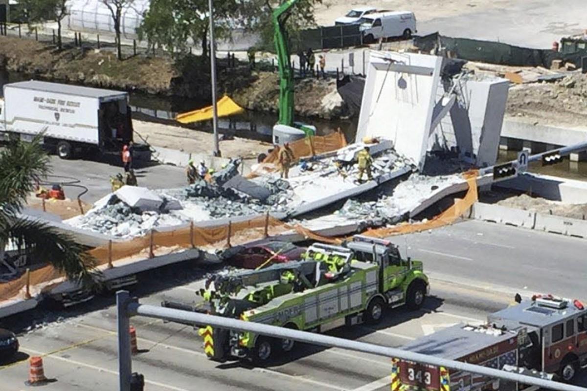 Four crushed to death as bridge at Florida university