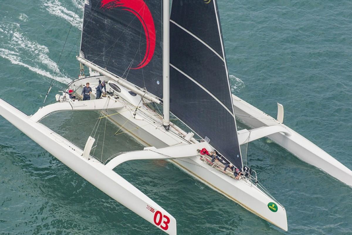 Karl Kwok's MOD Beau Geste shatters China Sea Race record by