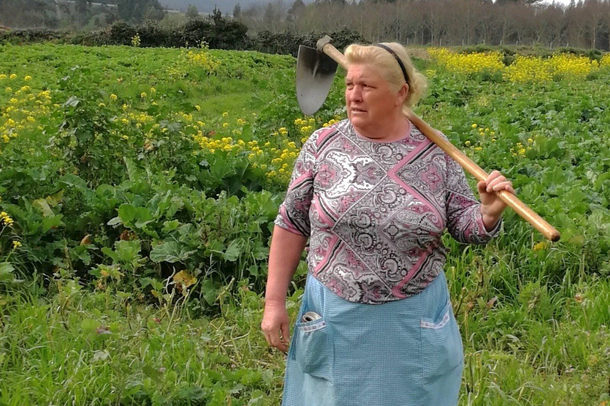Spanish potato farmer Dolores Leis looks a lot like Donald Trump