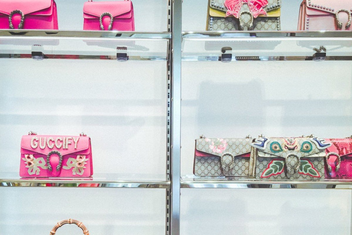 b07c5467d Handbags on display at Gucci's boutique in downtown Manhattan. Photo:  Business Insider/Jessica