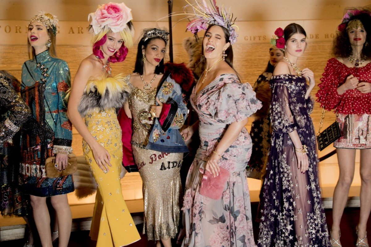 8c424943797f Models display luxurious creations at the Dolce & Gabbana Alta Moda Show at  New York's Metropolitan