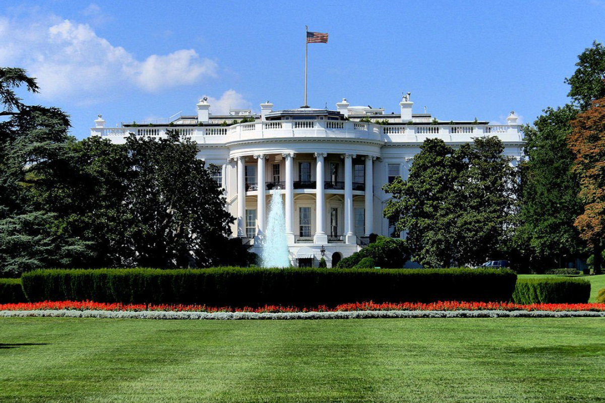 The White House lawn has developed a mysterious sinkhole