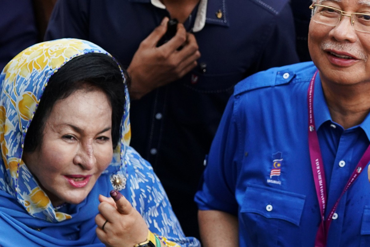 47adf026a83a Malaysia s former prime minister Najib Razak with his wife Rosmah Mansor.  Rosmah has been grilled