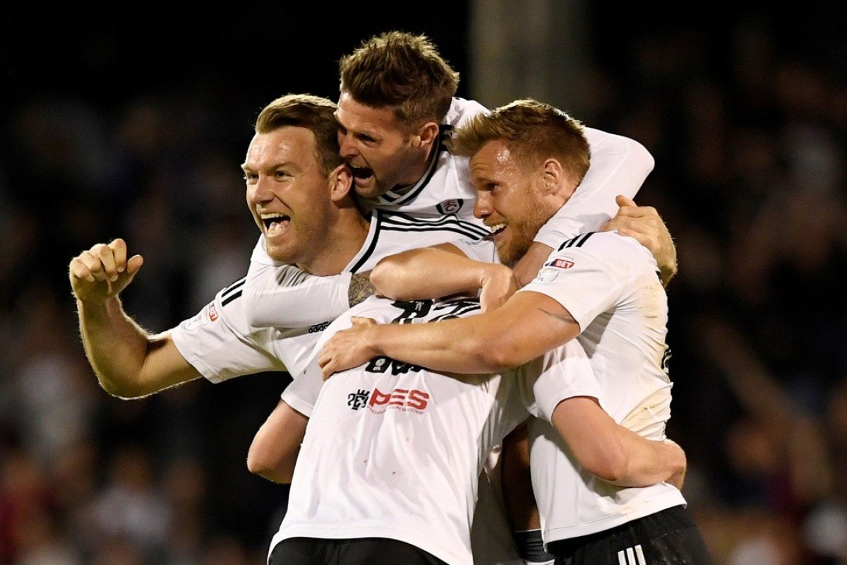ce0dd30a8832f8 FILE PHOTO: Fulham vs Derby County - London - May 14, 2018 Fulham players