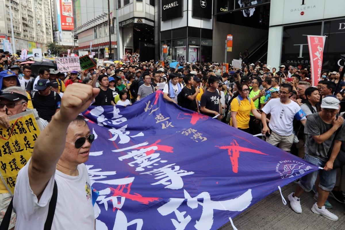 Hong Kong's July 1 march turno...