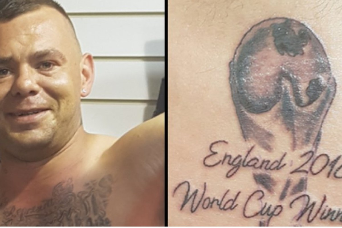 World Cup Winners Tattoo On His Belly