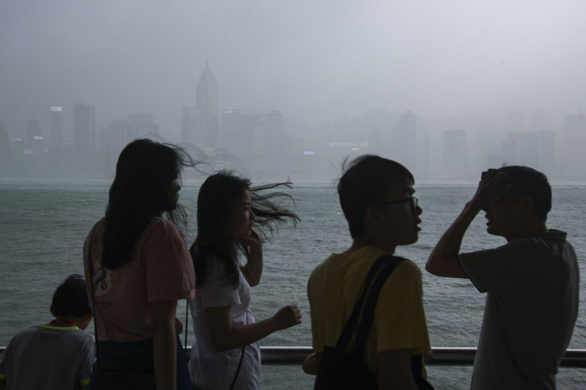 Observatory issues T1 typhoon standby signal as showers