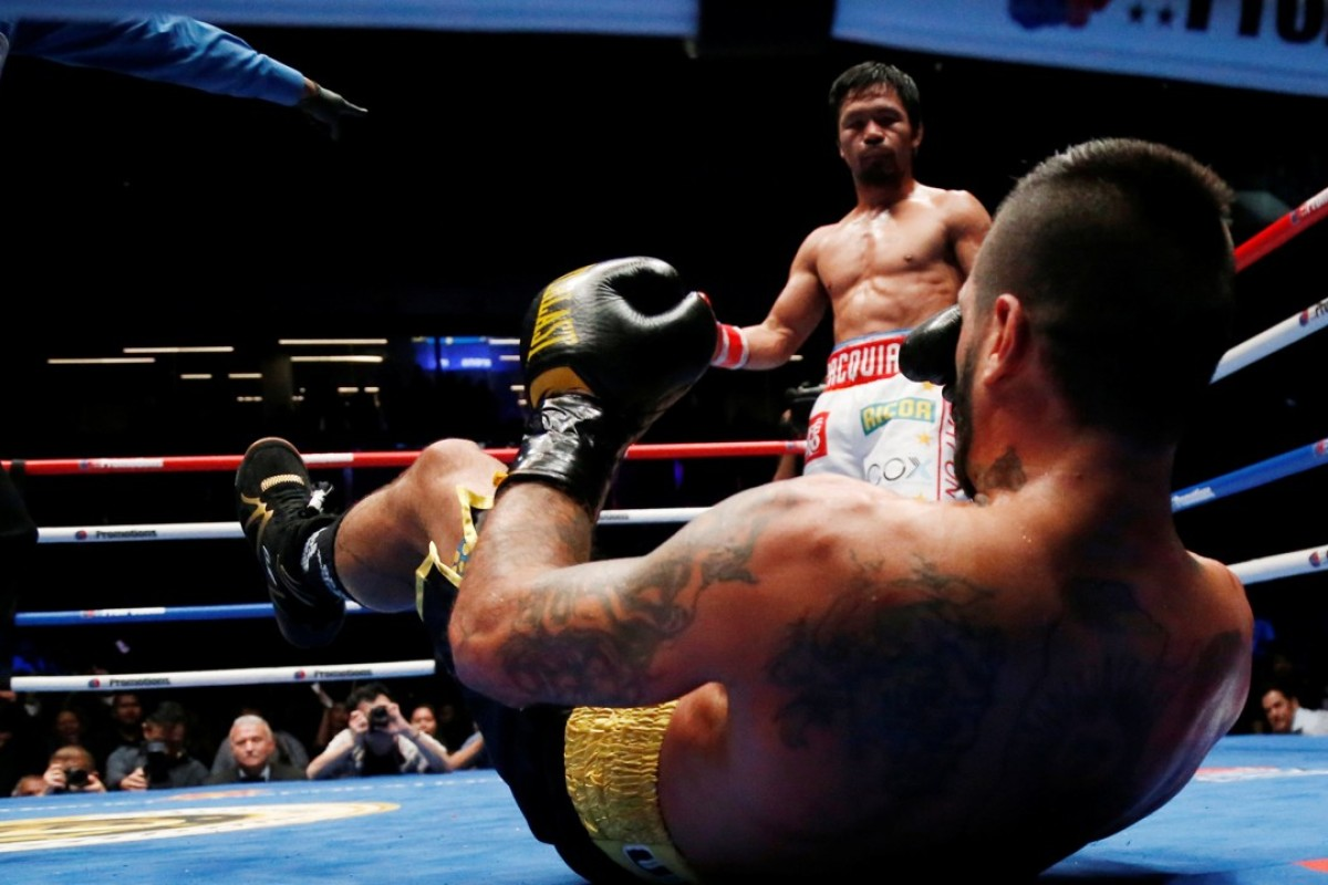 Manny Pacquiao floors Lucas Matthysse in Kuala Lumpur. Photo: Reuters
