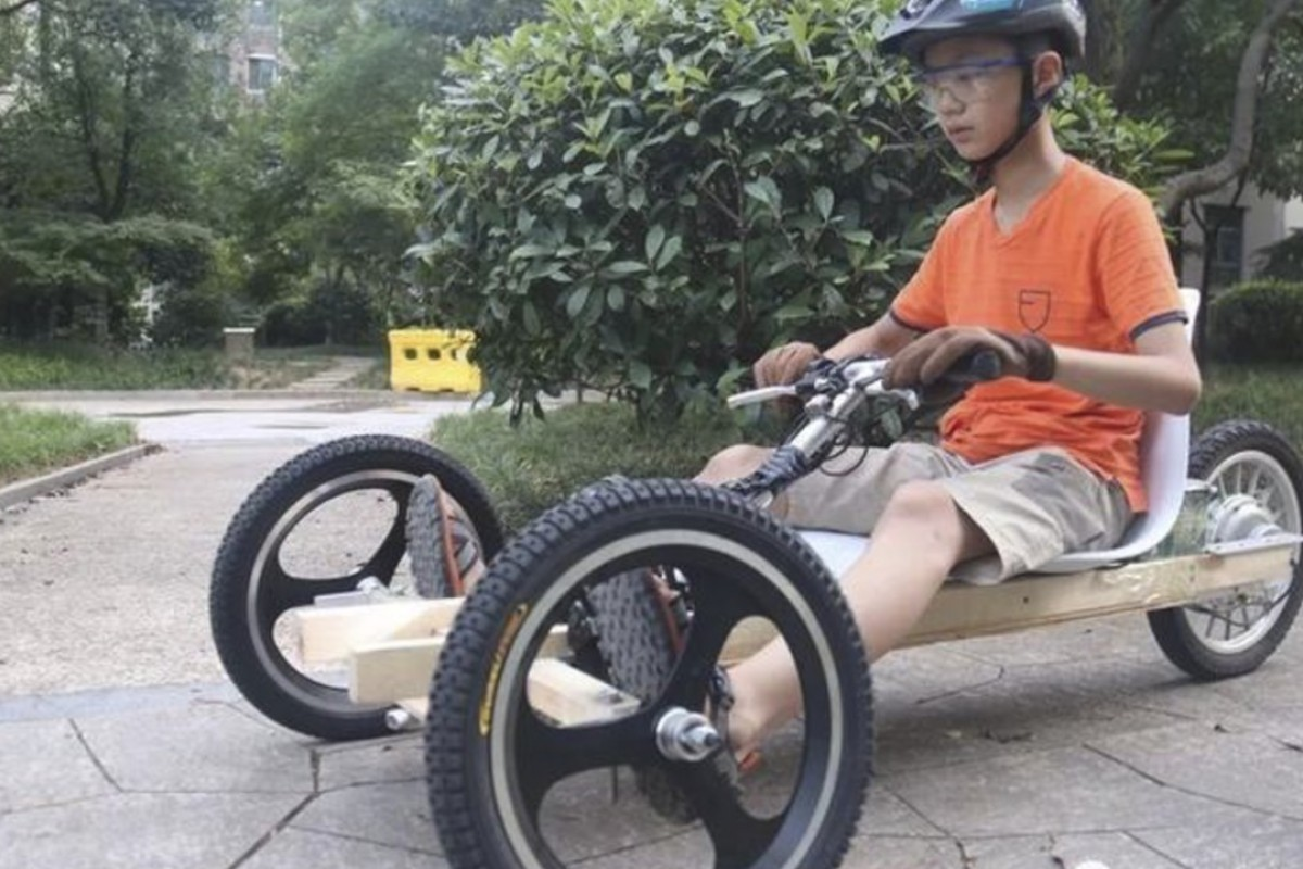 Chinese boy, 11, takes DIY go-kart for a spin after busy
