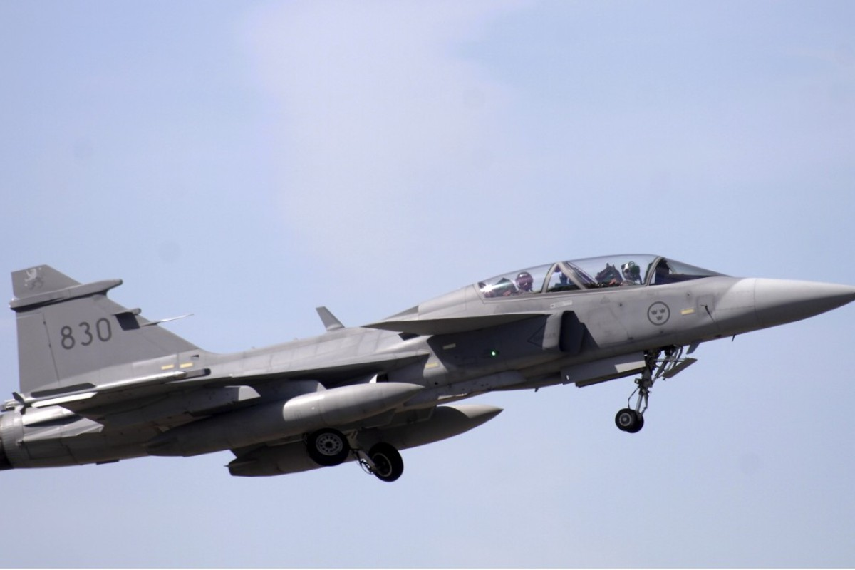 Pilot survives after Swedish fighter jet brought down by