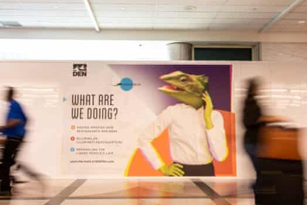 Denver international airport trolls conspiracy theorists who believe it is secret headquarters for...