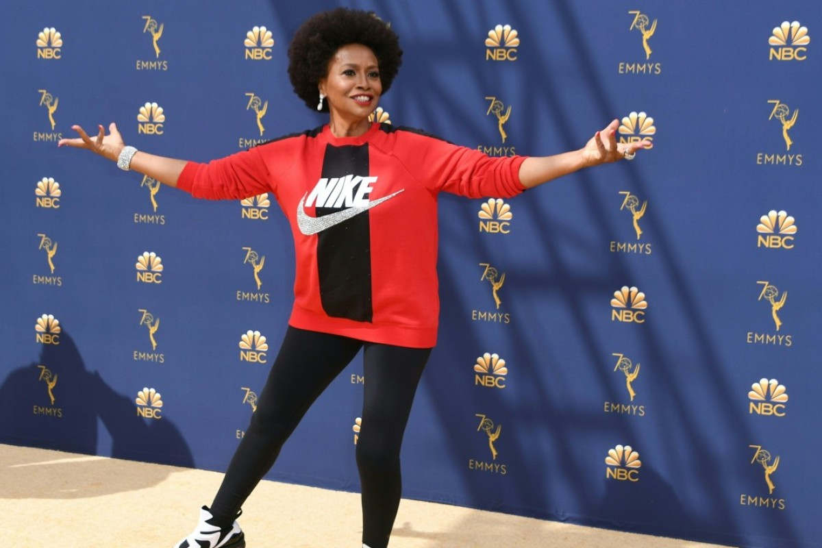 1e8a5fe422c76d Nike-clad Jennifer Lewis arrives for the 70th Emmy Awards at the Microsoft  Theatre in