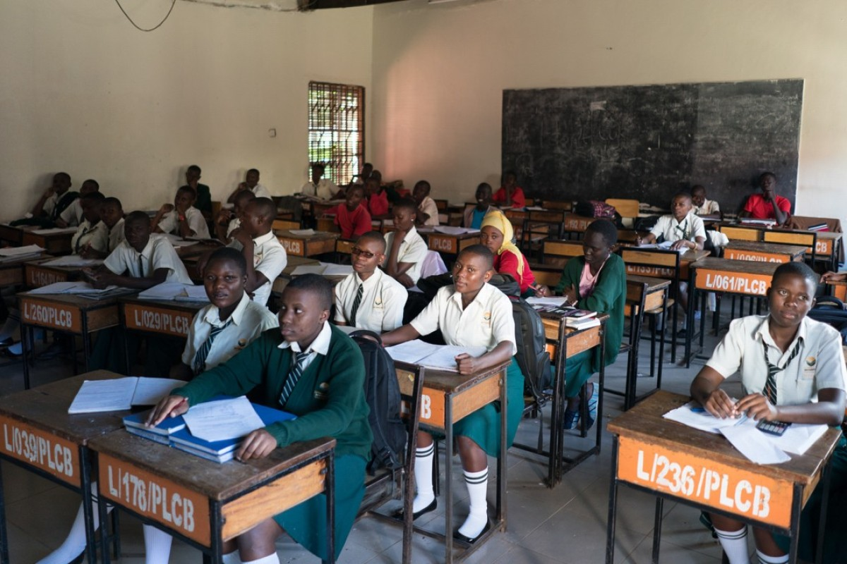 A class at Luyanzi College in Kampala, in Uganda. Pictures: Hannah Reyes Morales