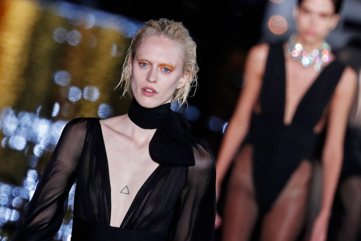 e2441ba5539 There was the occasional innocent Jean Seberg or young Mia Farrow look, but  Vaccarello specialises