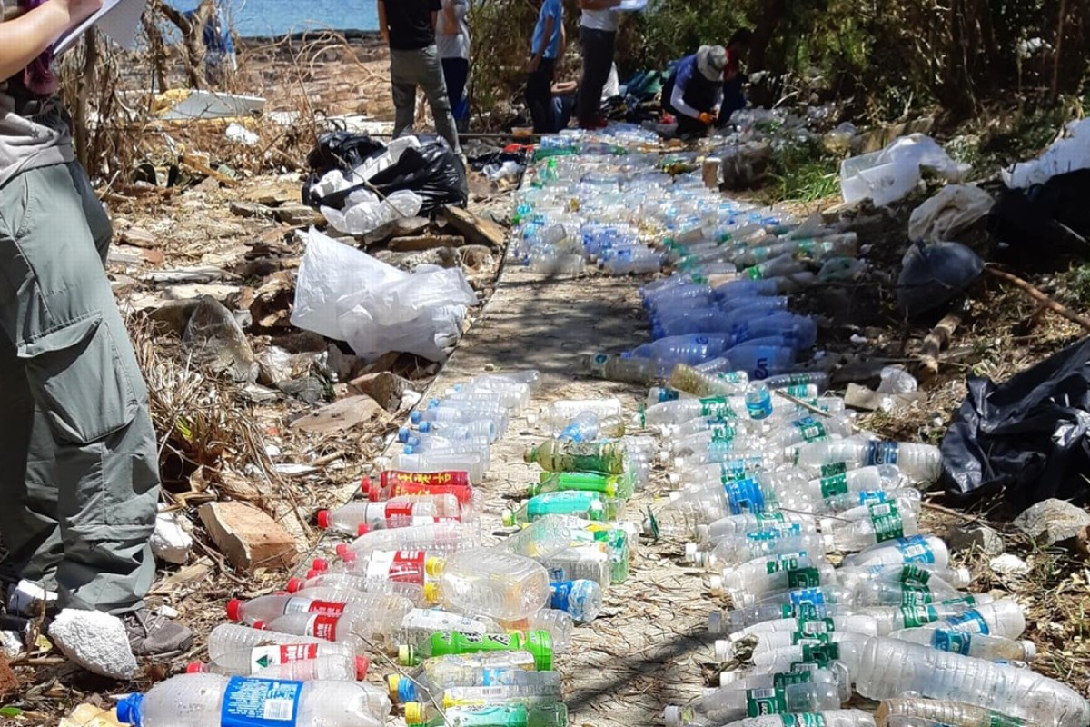 Almost quarter of plastic bottles washed up on Hong Kong