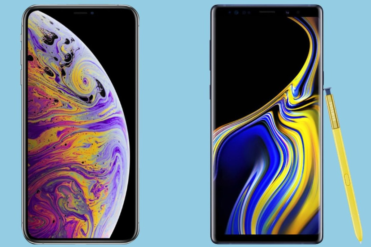 How do the iPhone XS Max and Galaxy Note 9 smartphones