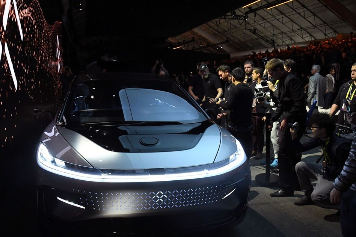 Faraday Future S Ff91 Prototype Electric Vehicle Is Showcased At Ces In Las Vegas On January 3