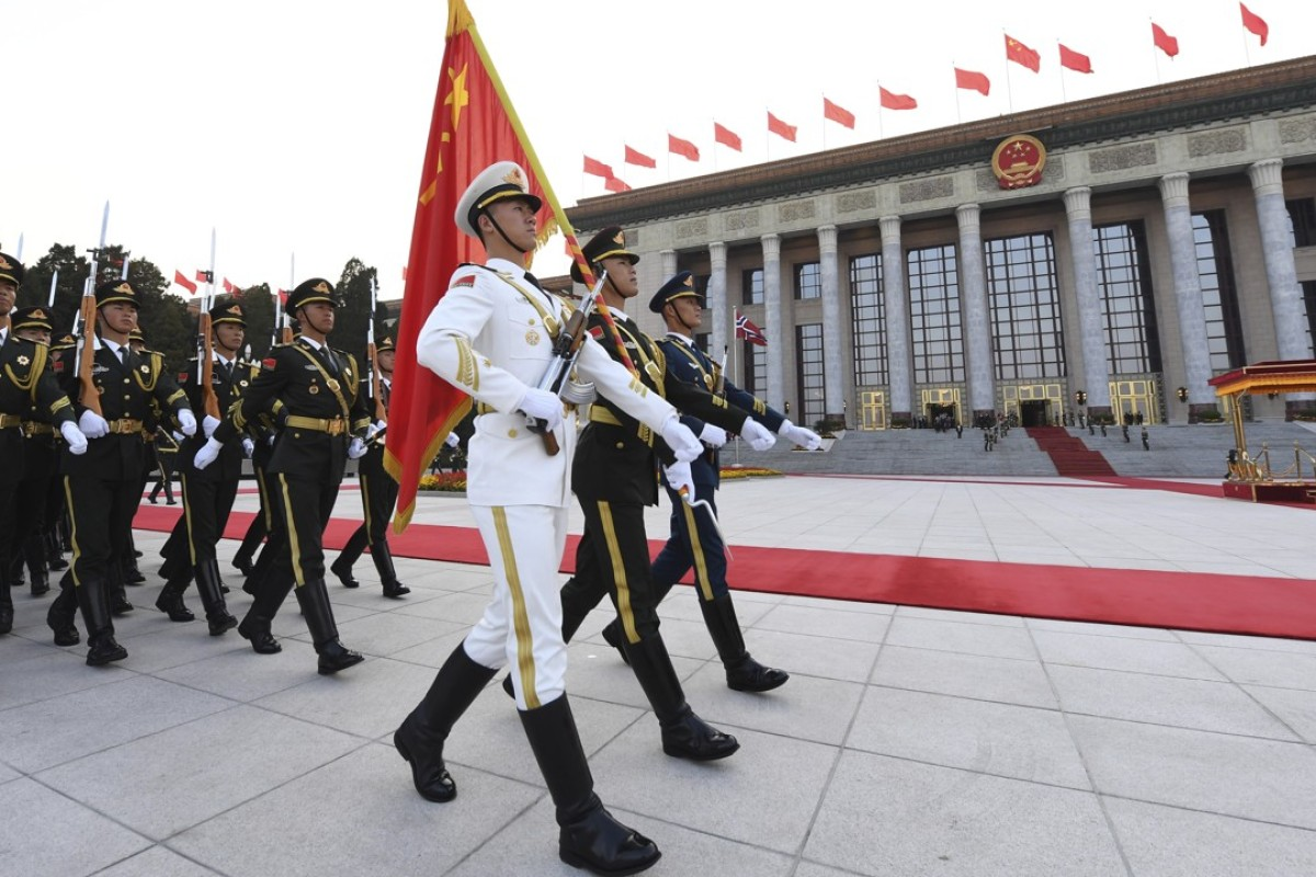 The Chinese People's Liberation Army in Beijing. Photo: EPA