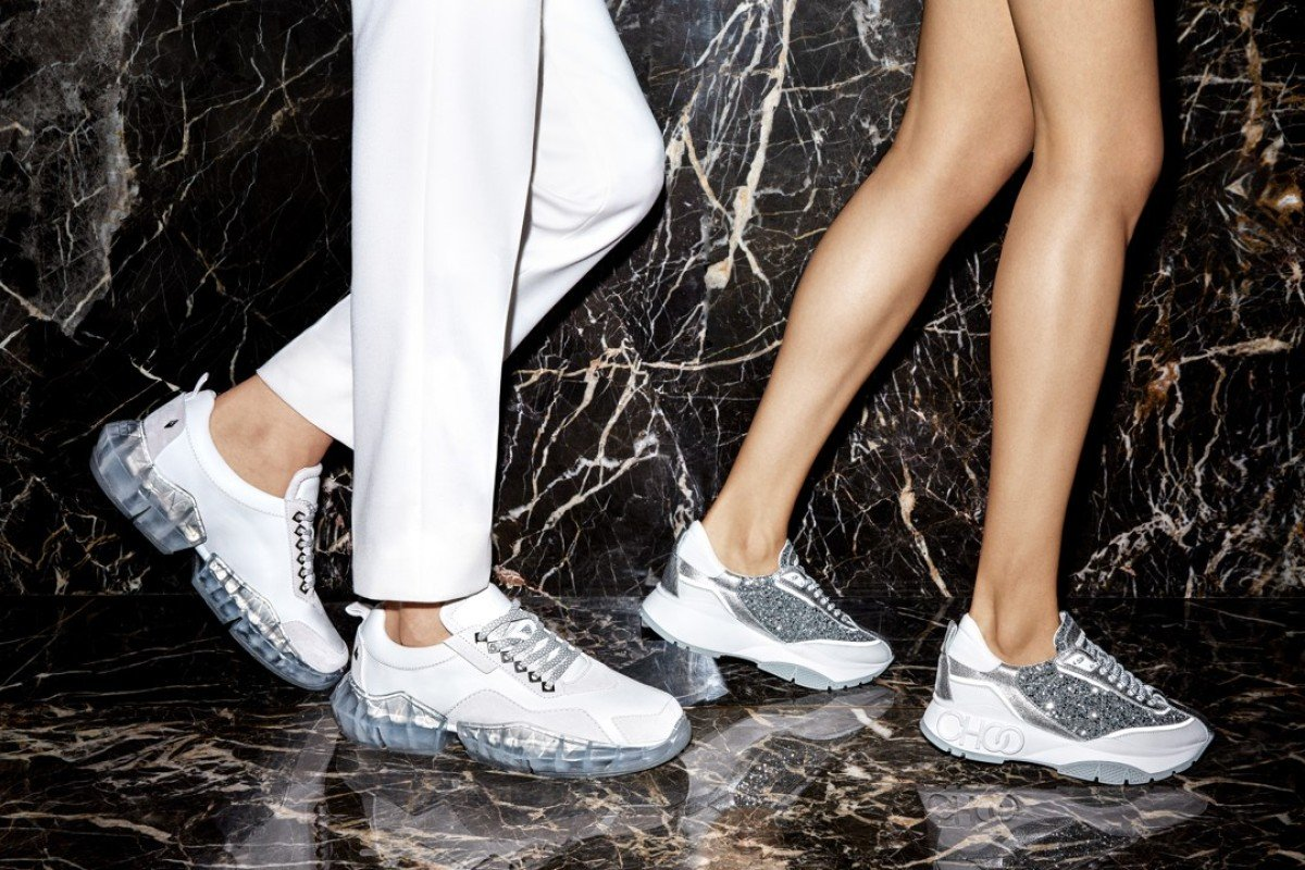 crystal-studded sneakers so