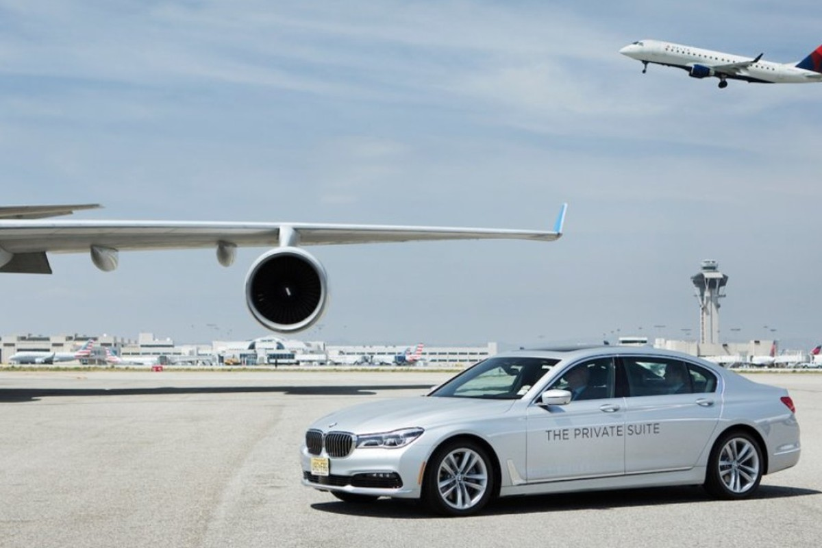 86b2500988ae3 The Private Suite offers travellers a chauffeur driven 7-Series BMW to and  from the