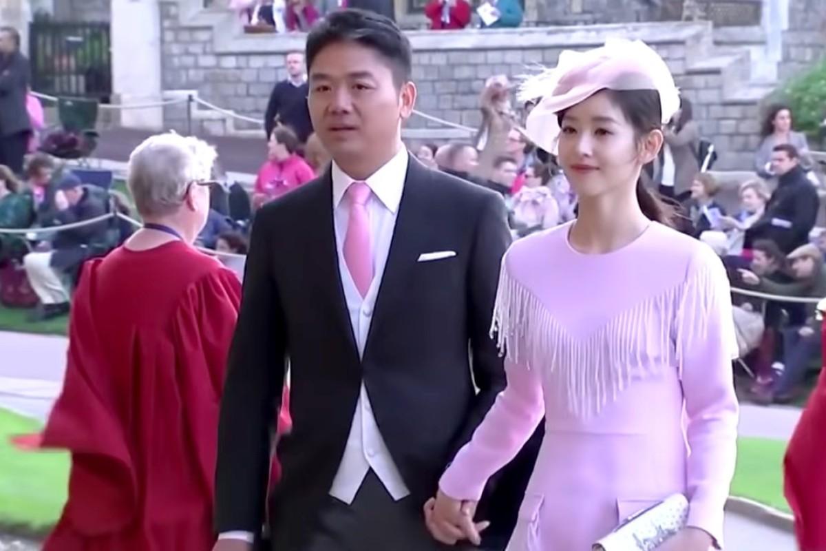 730b44fec81 JD.com chairman Richard Liu Qiangdong and wife Zhang Zetian at Princess  Eugenie s wedding.