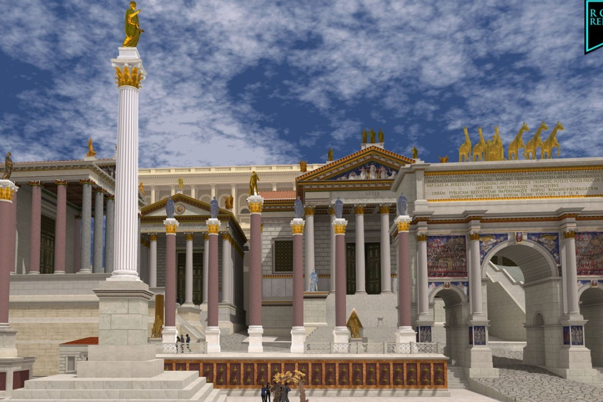Virtual reality project takes visitors on a tour of ancient Rome as