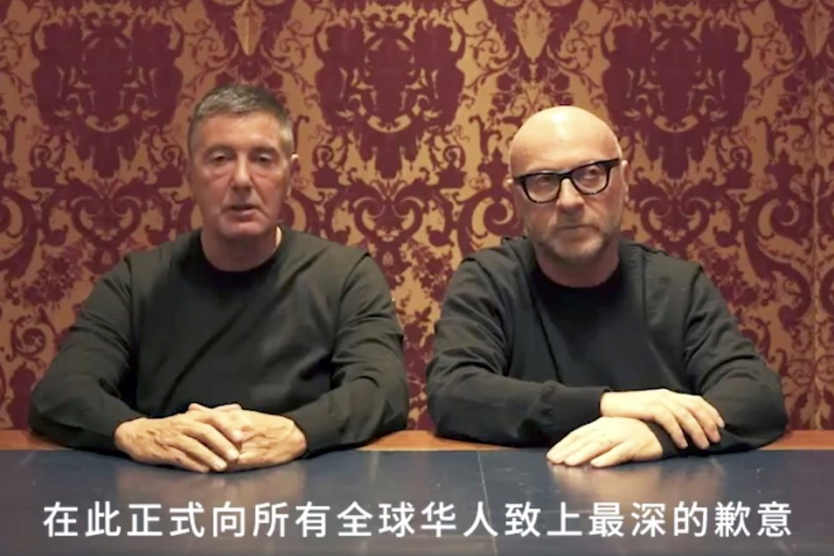 Dolce & Gabbana founders ask Chinese people for forgiveness after