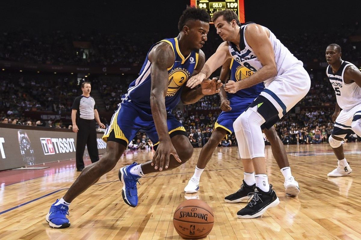 The Golden State Warriors and Minnesota Timberwolves brought NBA preseason action to Shenzhen last year to help satisfy China's appetite for basketball. This year, NBA China's hierarchy is keeping an eye on the trade war between the US and China and hoping for the best. Photo: Xinhua
