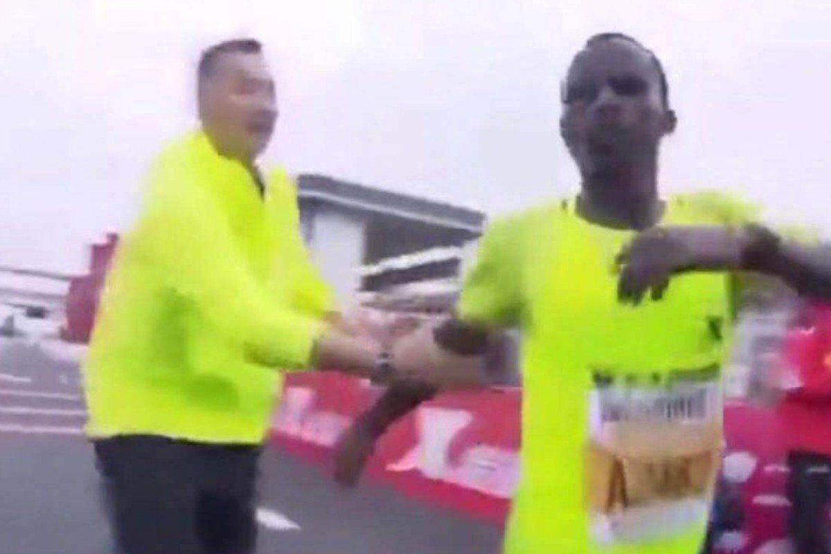 More marathon drama in China as Ethiopian runner forced to a