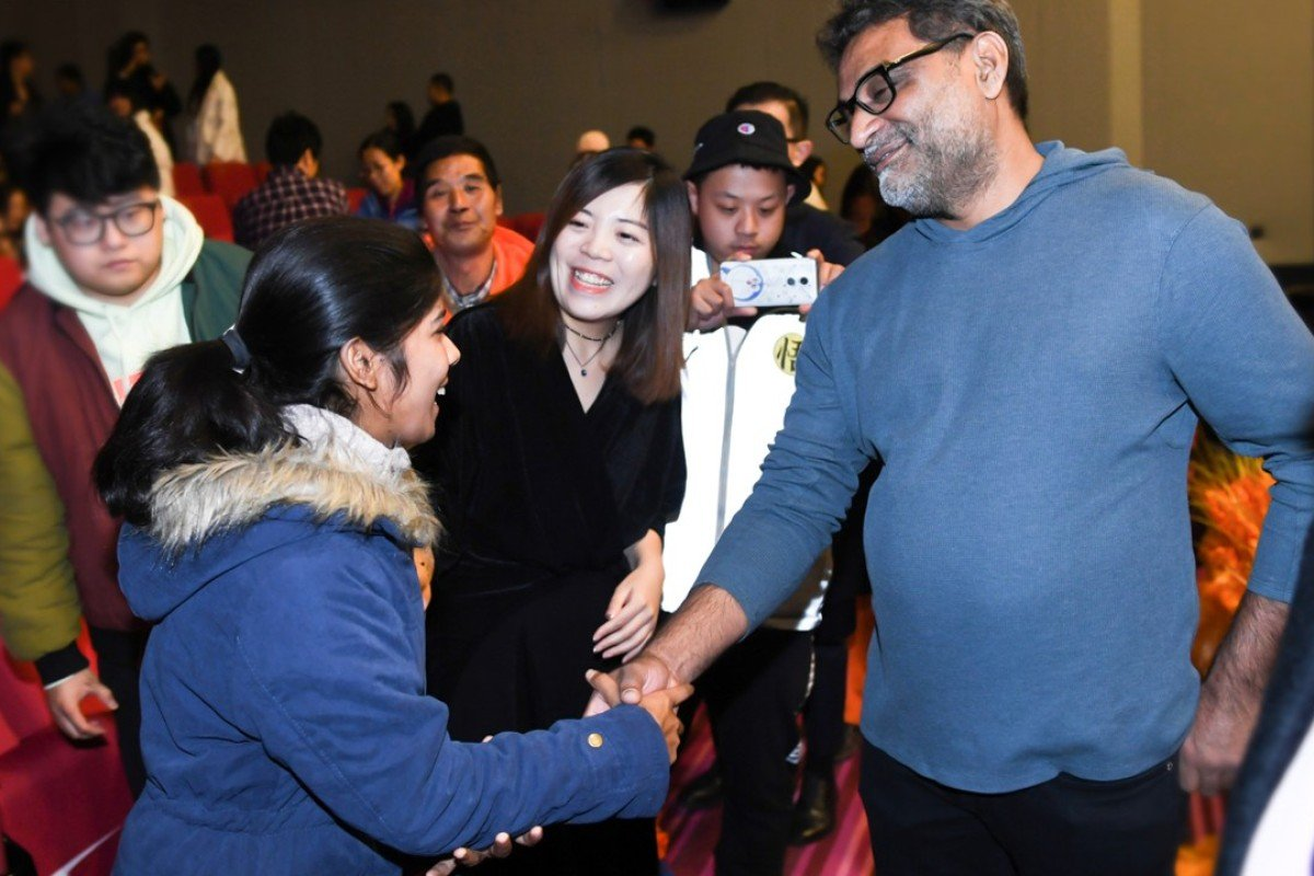 2f2315cfd Padman director R. Balki greeting the audience at a recent screening of the  film in