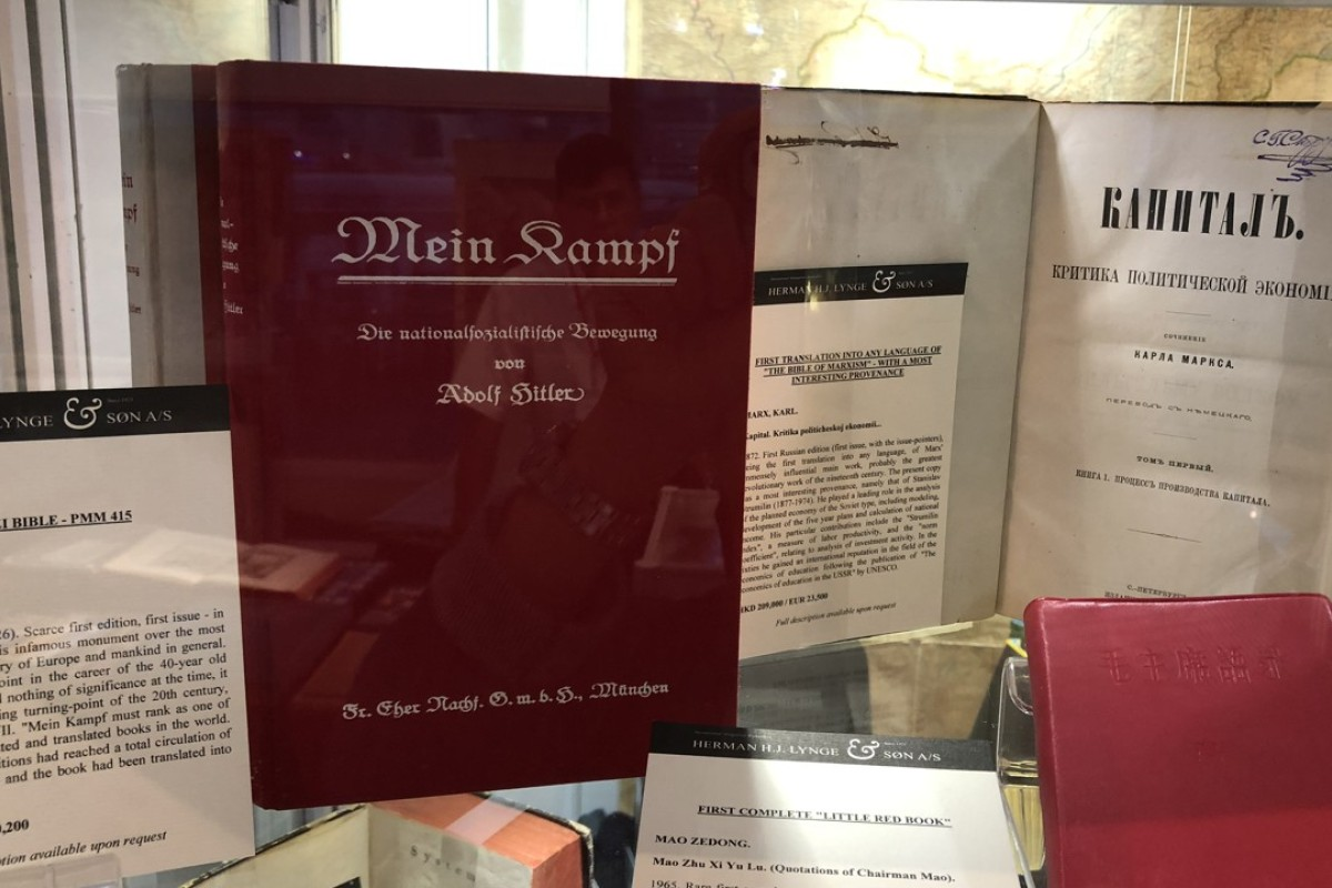 Signed copy of Adolf Hitler's Mein Kampf on sale at Hong