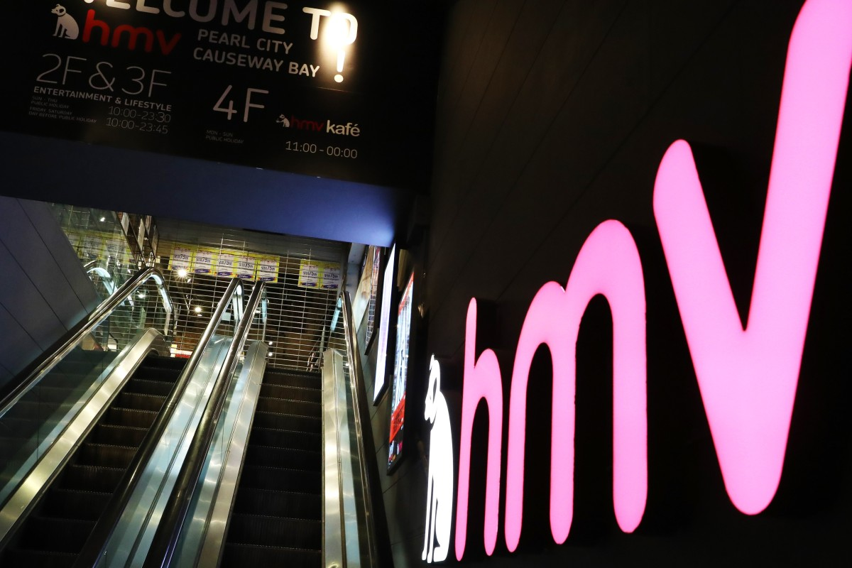 3ca631119 The HMV shop in Causeway Bay failed to open at 10am on Tuesday for regular  business