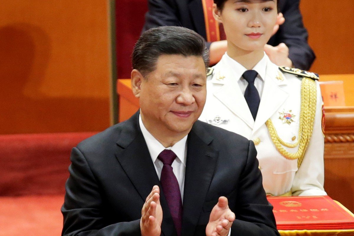 Chinese President Xi Jinping ahead of his speech at the Great Hall of the People in Beijing to mark the 40th anniversary of China's reform and opening up. Photo: Reuters
