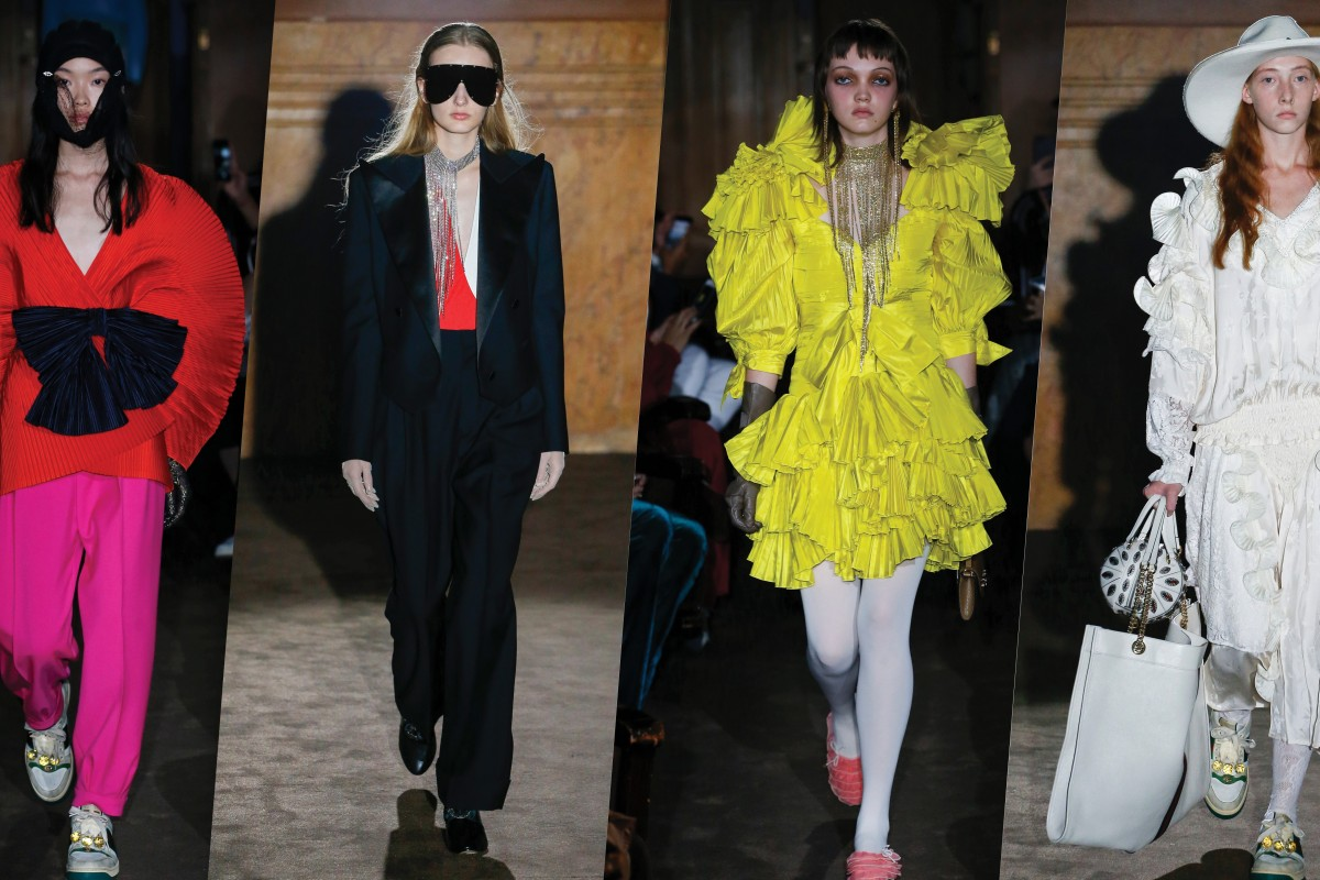 646a82a74 Gucci's spring/summer 2019 collection pays glowing tribute to Capucci,  Issey Miyake and Yves