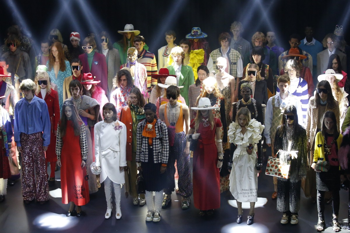2344e936d Gucci paid tribute to the rich story behind Paris' Théâtre Le Palace with a  flamboyant