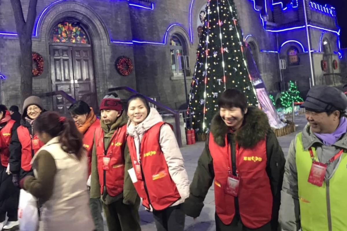 Christmas In China.Christmas Celebrations In Full Swing In Beijing Despite