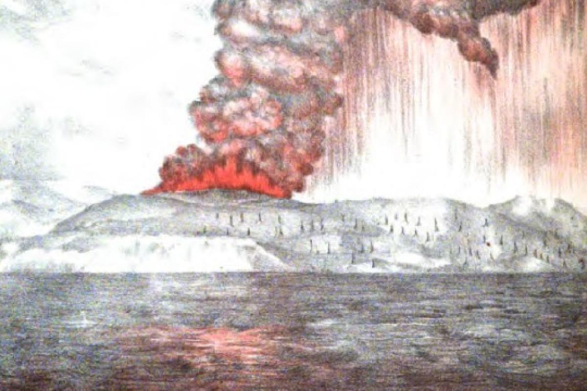 Before this tsunami, Krakatoa's eruption in 1883 rocked the world