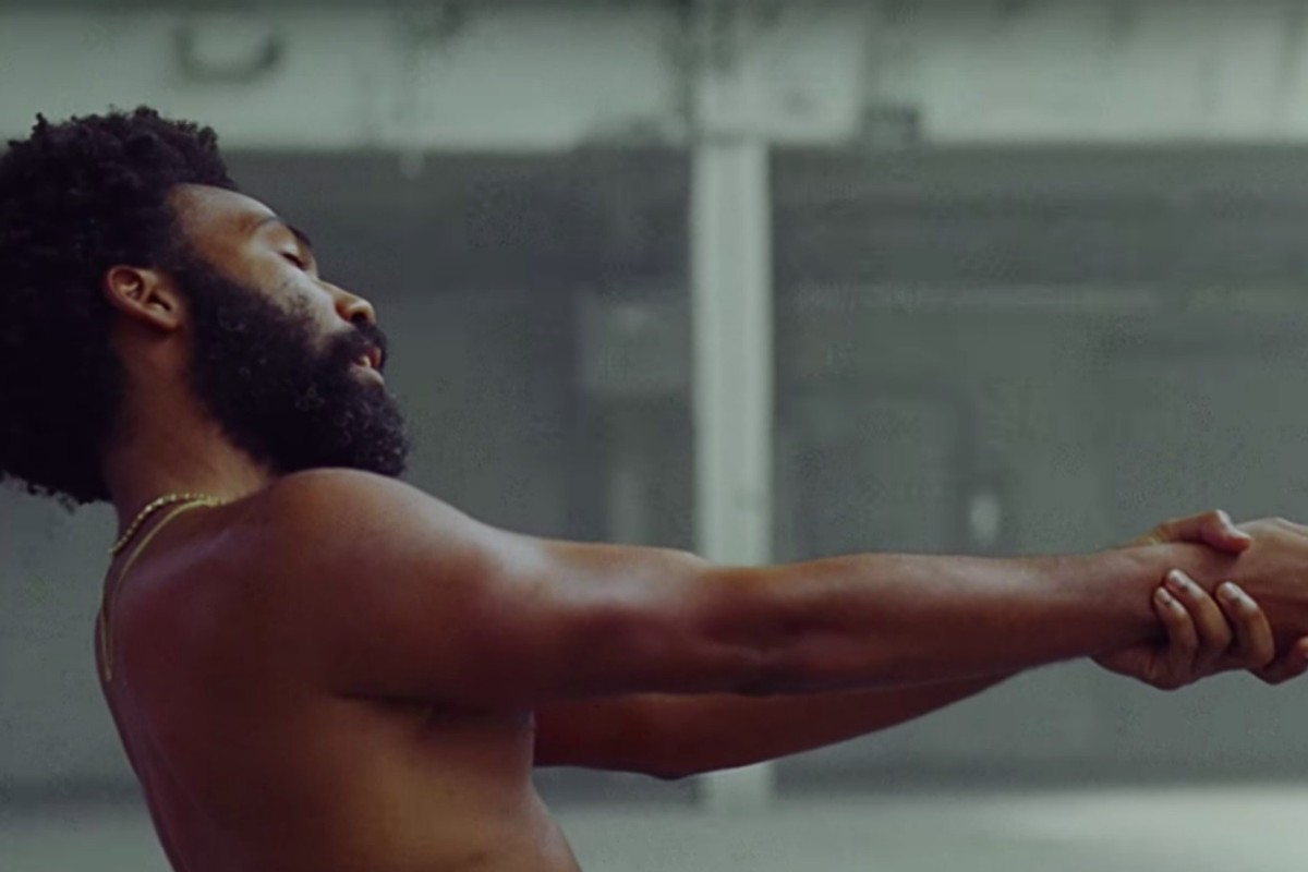 A screen grab from Childish Gambino's video This is America.