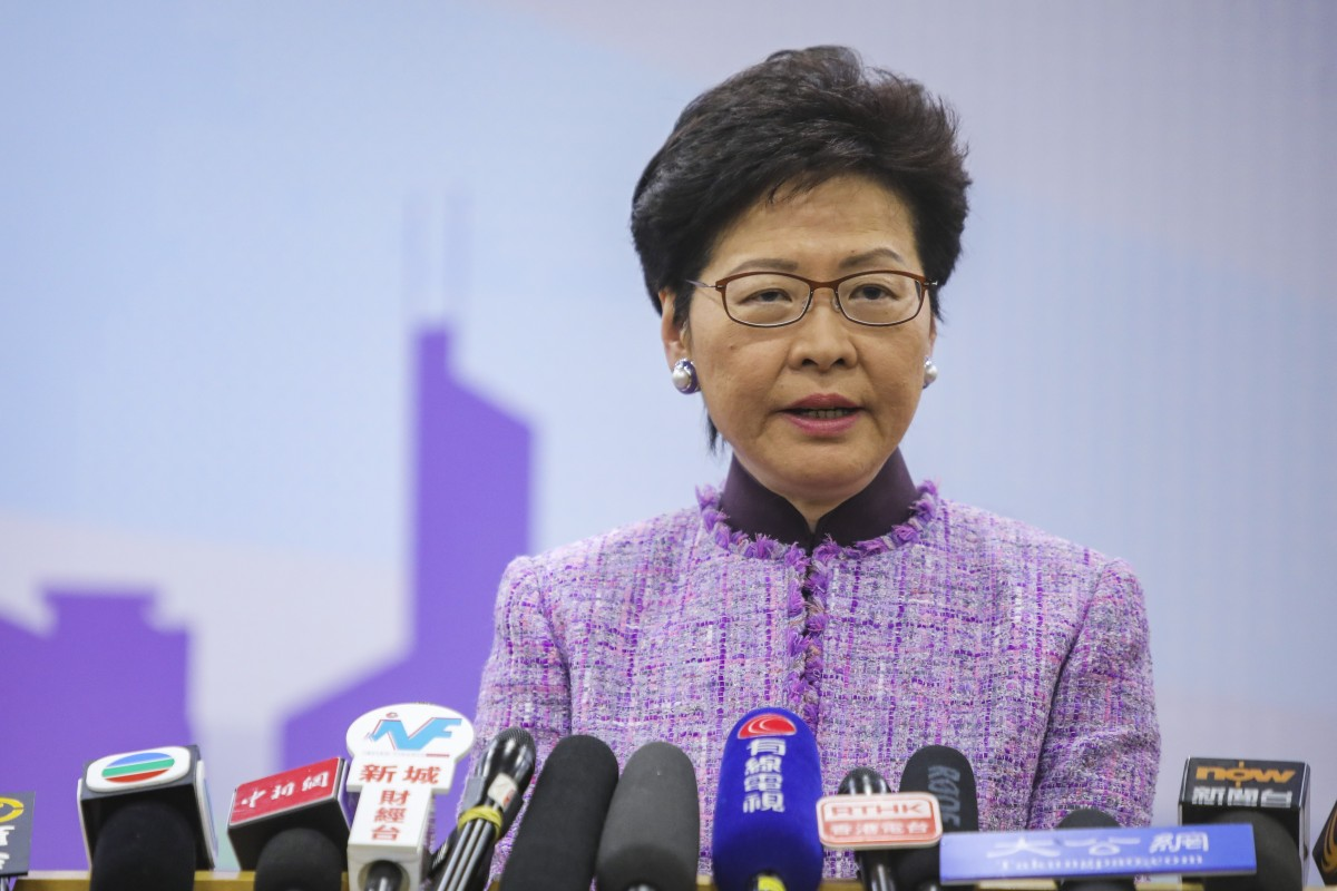 Hong Kong Chief Executive Carrie Lam defends Justice Secretary's