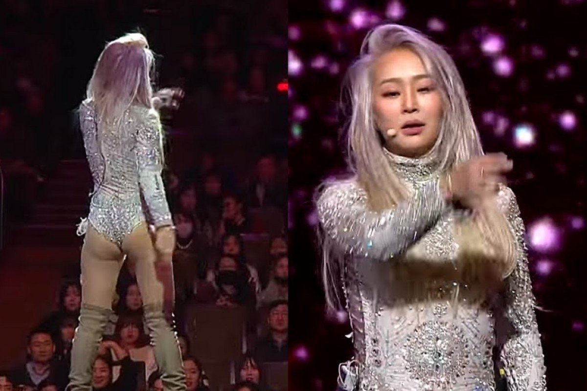 Famous Singers Naked k-pop star hyolyn shocks drama awards with 'butt-naked